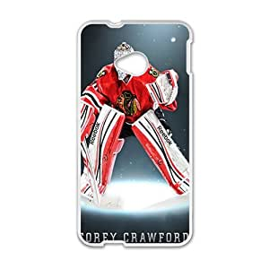 Happy Chicago Blackhawks corey crawford Phone Case for HTC One M7