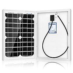 ACOPOWER 20 Watt 20W Mono Solar Panel for 12 V Battery Charging, Off Grid