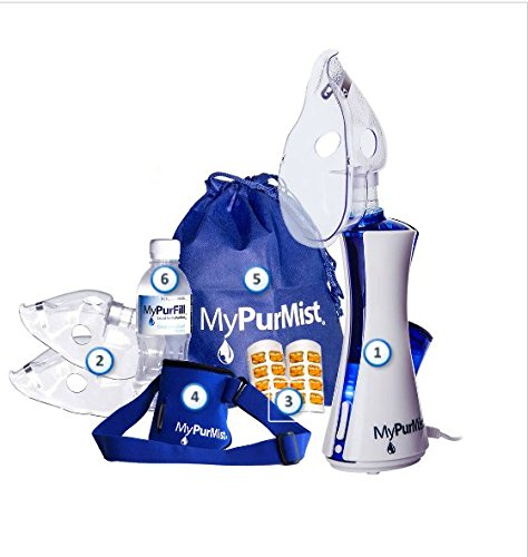 MyPurMist Handheld Steam Inhaler, Includes Steam Inhaler, 3 Adult Masks, 2 Scent Pads, 1 Hands Free Strap by MyPurMist