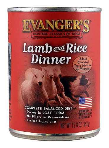 - EVANGER'S Classic Lamb and Rice Dinner for Dogs, 12 Pack, 13-Ounce Cans