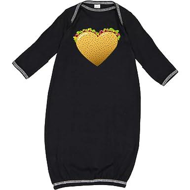 c0ee604b Amazon.com: inktastic - Taco Heart- Love Tacos Newborn Layette Black 2ed0a:  Clothing