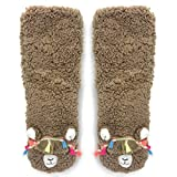 Search : OoohYeah Women's Super Soft Pet Llama Call You Sherpa Slippers One Size
