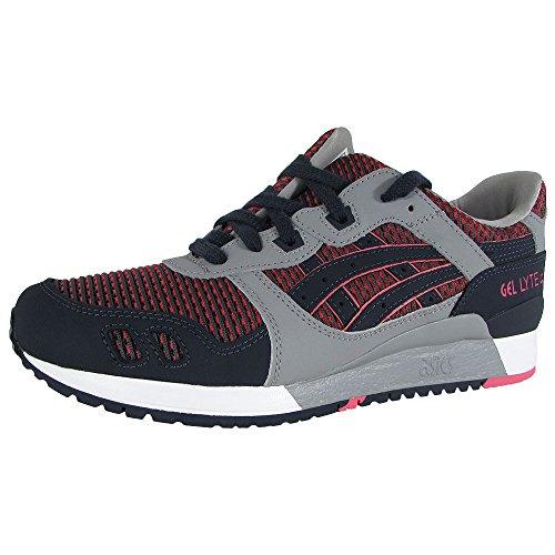 ASICS Mens Gel-Lyte III Running Sneaker Shoes, Medium Grey/Guava, US 8