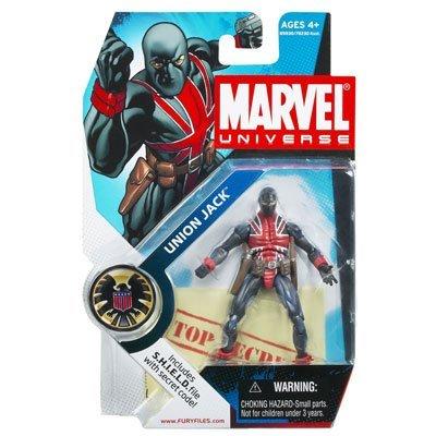 Marvel Universe Series 1 Action Figure #26 Union Jack 3.75 Inch.