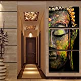 Printed oil paintings landscape the Buddha series adornment picture Art Wall Decorative Canvas Print Set Of 3 (no frame) canvas painting 40*60cm*3Panels(16*24inches*3panels) SKY-NO16