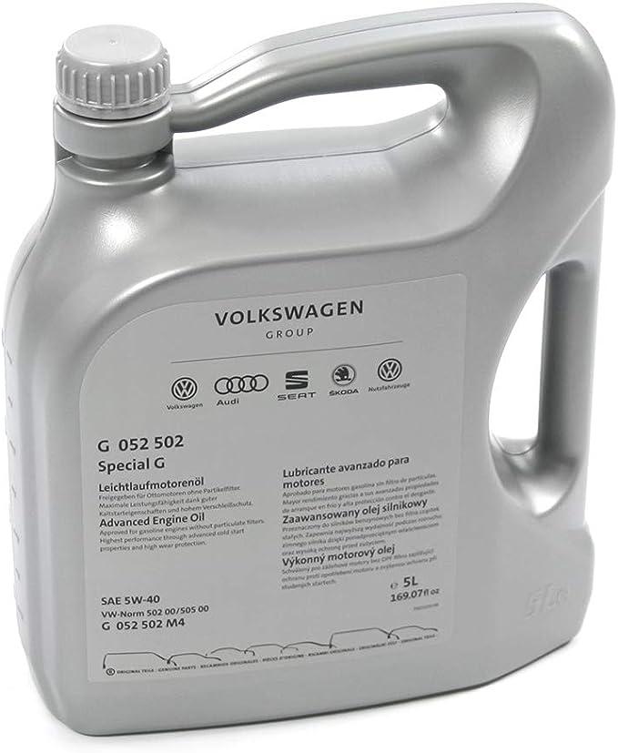 Aceite de motor 5W40, 5 l, norma de aceite 50200 50500, gasolina