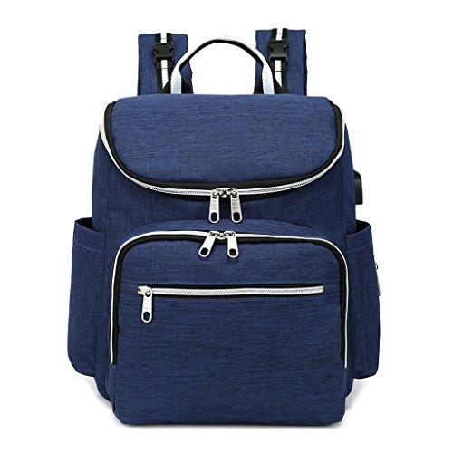 Large Mummy Diaper Baby Travel Nappy Multi Charging Bags Purple Backpack Dabixx Usb Blue functional 0wZTqxA