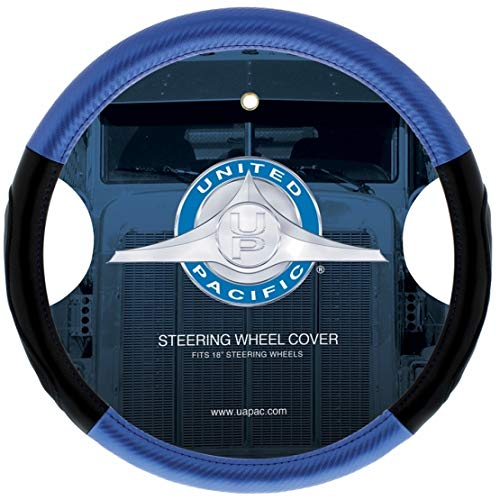 """United Pacific 70408 18"""" Carbon Fiber Style Steering Wheel Cover ()"""