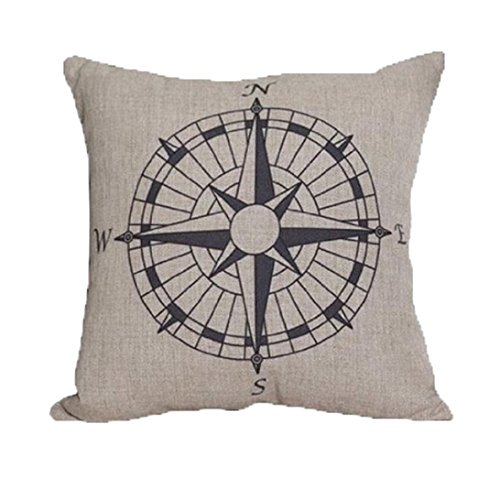 Goddessvan Compass Print Sofa Bed Home Decoration Festival Pillow Case Cushion Cover (45cm45cm, white) (Best Occasional Chairs)