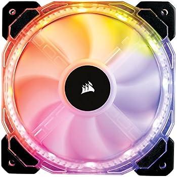 Corsair CO-9050065-WW  HD Series, HD120 RGB LED, 120mm High Performance RGB LED PWM single fan, no controller
