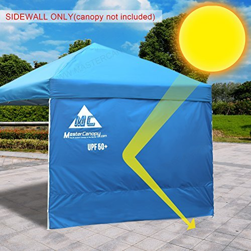MASTERCANOPY Sunshield Side Wall Instantly Attaches to Any 10x10ft Straight Leg Pop Up Instant Canopy Tent(10ft, Blue) (Canopy Accessory)