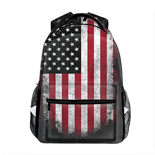 3D Printing USA Flag For True Patriots School Bookbag Travel Backpack 11.5x8x16