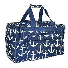 NGIL Travel Duffel Bag, Nautical Anchor Navy (23-inch)