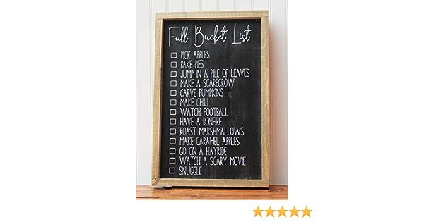 Fall Bucket List Wood Sign