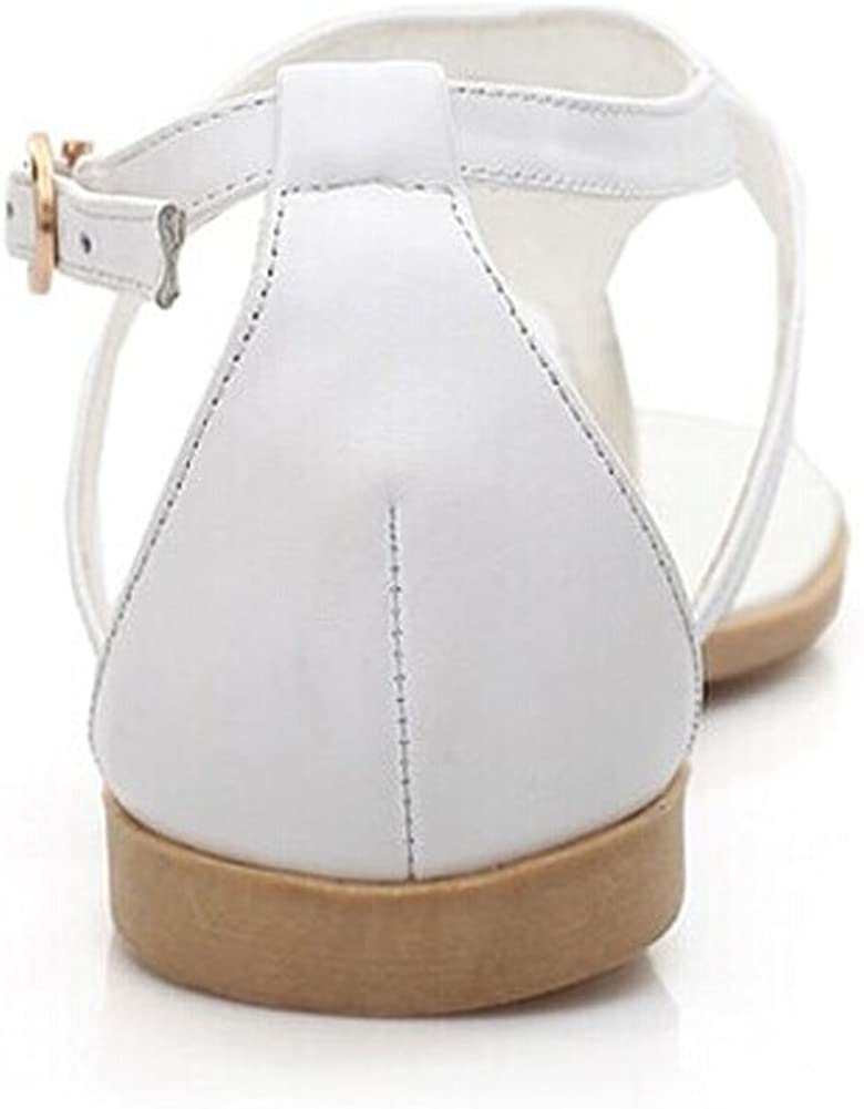 Womens 2014 Vintage Summer Flat Sandals Triangle Metal Shoes Belt Clip Flip-Flop Shoes and Bags Black and White