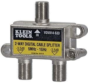 Klein Tools VDV814-633 Coax Splitter - CATV, 2-Way, 5MHz - 1GHz by Klein - Geneva Supply