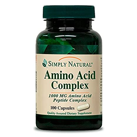 Amazon.com: Simplemente Amino Acid Complex, 1000 mg, 100 ...