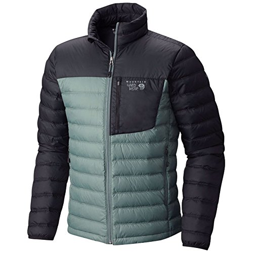 Mountain Hardwear Men's Dynotherm Down Jacket, Thunderhead Grey, Black, S