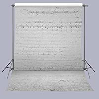 FUERMOR Background For Photography 5X7FT White Brick Wall Photography Backdrop Studio Props A227