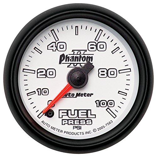 Auto Meter 7563 Phantom II Full Sweep Electric Fuel Pressure Gauge