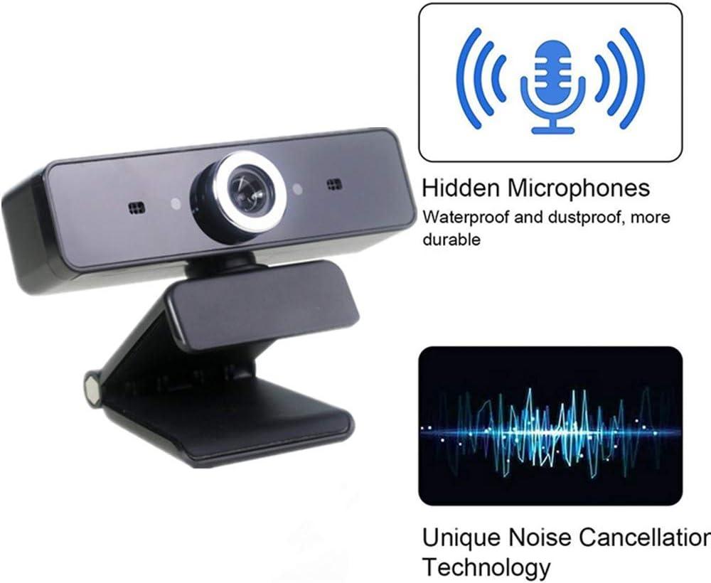 Zoom Webcam HD 480P,ROTEK Cam/éra vid/éo /à Flux USB C/ámara de computadora con videollamadas Plug and Play Hangouts Fonctionne Avec Skype FaceTime PC//Ordinateur Portable//Macbook//Tablette