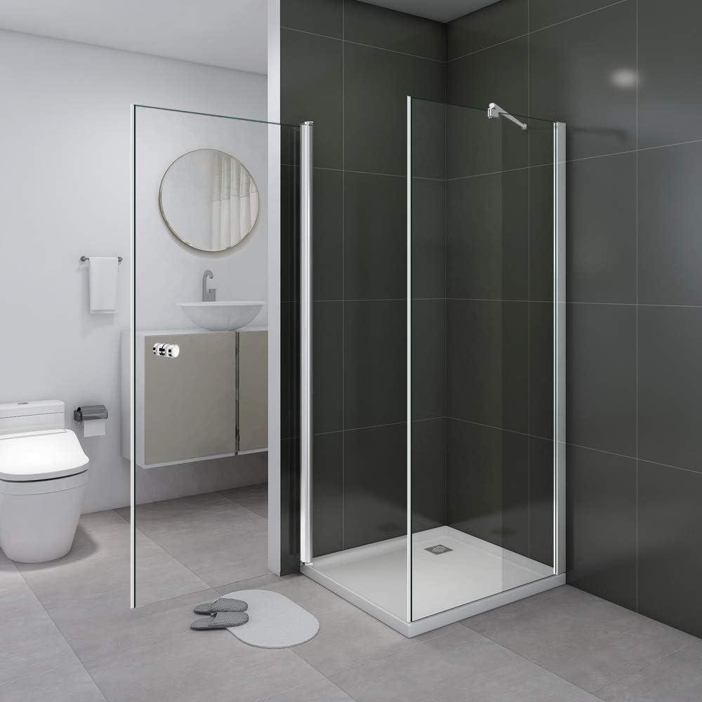 Cabina de ducha Ducha Ducha Pared 180 ° Puerta oscilante esquina ...
