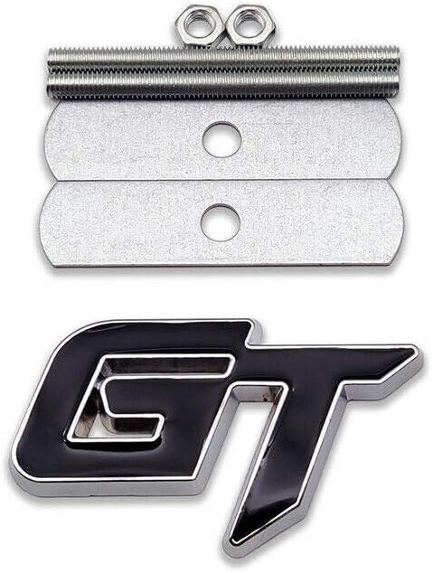 1x 3D Metal Grille GT Emblem Allloy Badge Sticker Nameplate Replacement for GT Black
