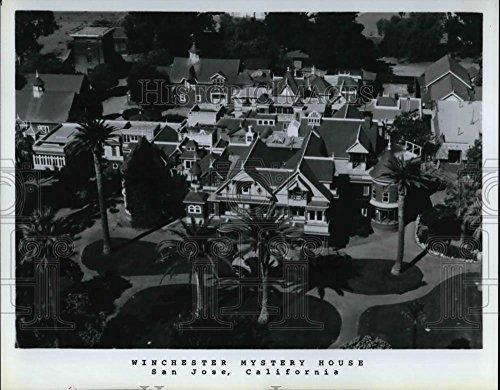 Press Photo Winchester Mystery House in San Jose California - cva20049 - 8 x 10.25 in. - Historic Images
