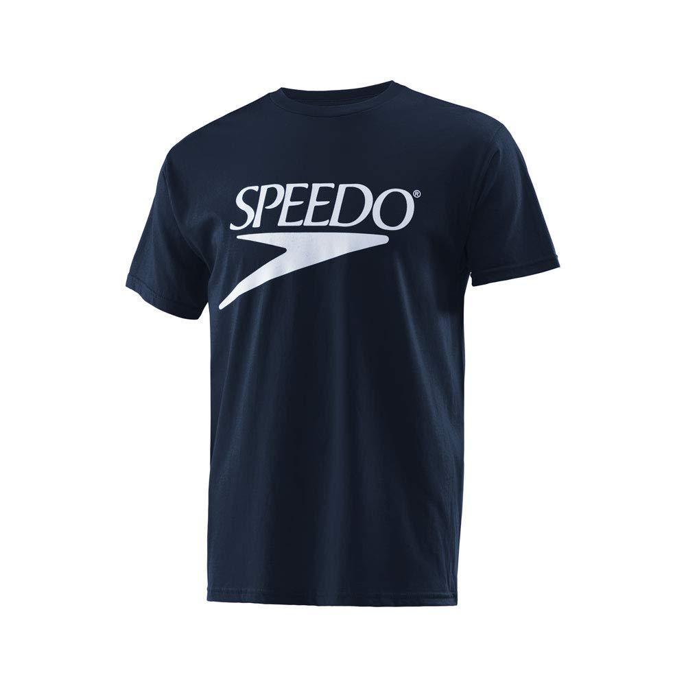 Speedo Vintage Collection Logo Short Sleeve Crew T-shirt, SPEEDO NAVY, X-Small by Speedo