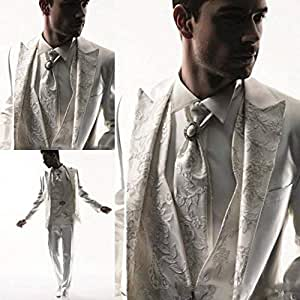 GFRBJK Apliques Hombres Tuxedos Traje de Negocios Vestido de ...