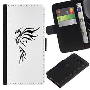 TORNADOCOVER Diseño Trasera Imagen Duro Funda Negro Borde Carcasa Case Cover Skin para Smartphone Samsung Galaxy Win I8550 I8552 Grand Quattro - cuero negro