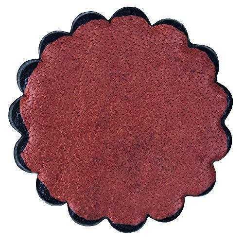 HILASON Set of 06 Plain Scalloped Leather Rosette Concho Saddle TACK 1-3/4