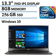 """2016 Dell XPS 13 High Performance Laptop with 13.3"""" FHD IPS Infinity Borderless Display, Intel Core i5-6200U Processor, 8GB RAM, 256GB SSD, 15 hours battery life, Backlit Keyboard, Windows 10"""