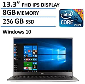 "2016 Dell XPS 13 High Performance Laptop with 13.3"" FHD IPS Infinity Borderless Display, Intel Core i5-6200U Processor, 8GB RAM, 256GB SSD, 15 hours battery life, Backlit Keyboard, Windows 10"
