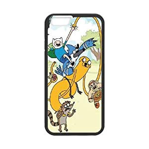 Special Design Case iPhone 6 Plus 5.5 Inch Black Cell Phone Case Fjkfp Adventure Time Durable Rubber Cover