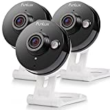 Funlux WiFi Wireless 720p HD Two-Way Audio Smart Home Security Camera System Indoor Night Vision Motion Detection 115 Degree Viewing Angle (3 Pack)
