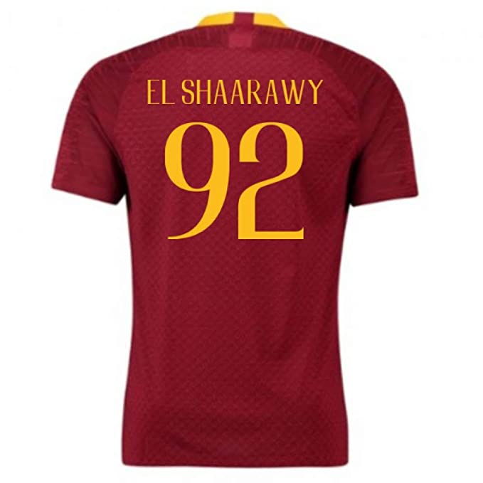 2018-2019 AS Roma Home Nike Football Soccer T-Shirt Camiseta (Stephan El Shaarawy 92) - Kids: Amazon.es: Deportes y aire libre