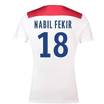 2018-19 Olympique Lyon Home Football Soccer T-Shirt Camiseta (Nabil Fekir 18): Amazon.es: Deportes y aire libre