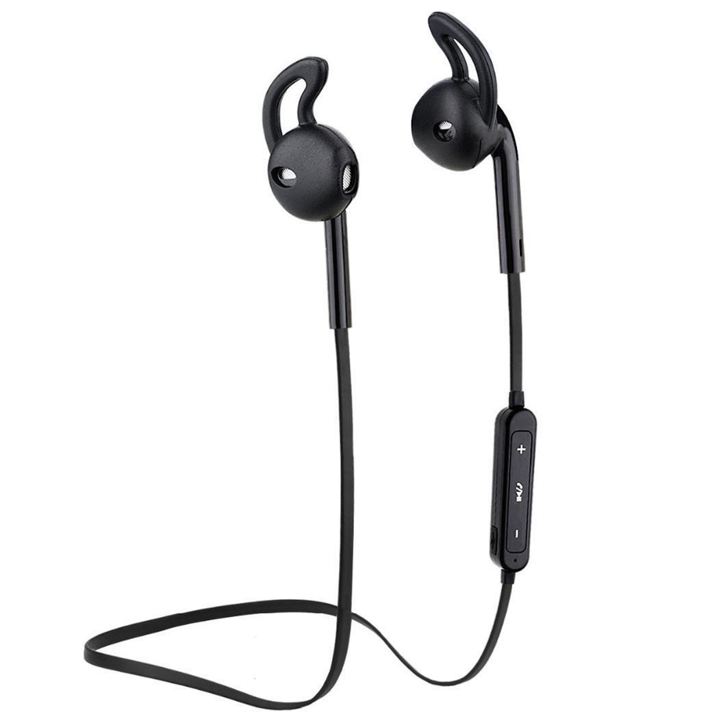 Lioder ジェネラル ステレオ インイヤー イヤホン イヤホン Bluetooth スポーツ ワイヤー コード付きヘッドセット LRVF033428_B# B07M9PN4MV ブラック
