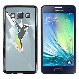 Paccase / SLIM PC / Aliminium Casa Carcasa Funda Case Cover para - Abstract Bird Hummingbird Fly - Samsung Galaxy A3 SM-A300