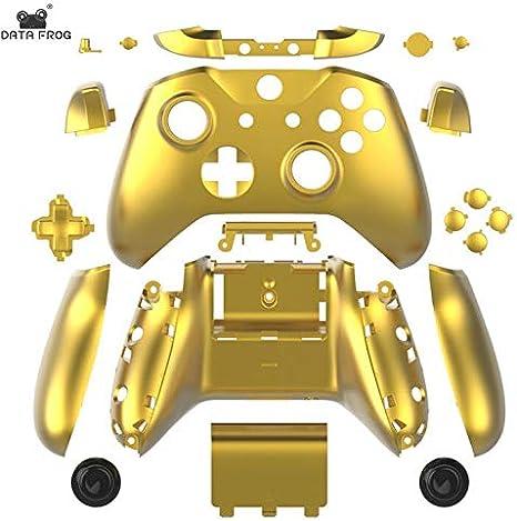 Carcasa Completa Botones para Xbox One Slim para mandos inalámbricos Xbox One S Cromo Dorado: Amazon.es: Electrónica