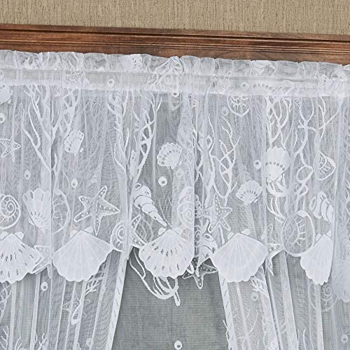 Ben Jonah Ben Jonah Collection Darcy Window Curtain Valance 58×14-Black White