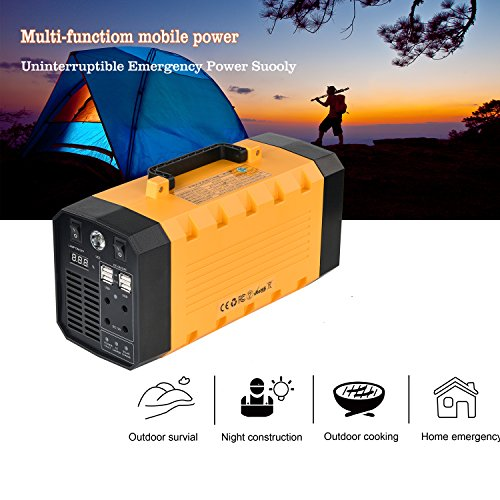 500W Portable Generator Power Inverter, LNSLNM 288Wh/90,000mAh Camping CPAP Battery Backup Home Power Source Charged by Solar Panel/Wall Outlet/Car with Dual 110V AC Outlet, 4 DC 12V Ports, USB Ports by LNSLNM (Image #4)