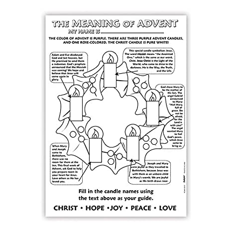 color your own christmas poster the meaning of advent 21 inch pack of 50