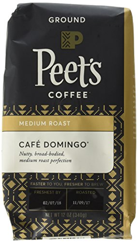 Peet's Coffee, Cafe Domingo, Medium Roast, Ground Coffee, 12 oz. Bags (Pack of 2), Smoothly Sweet, Balanced, & Bright Medium Roast Blend of Latin American Coffees, with A Crisp, Clean - Cafe Coffee Pot