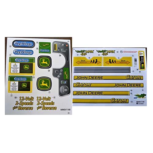 (Genuine New Perego Jouhhn Deere Gator HPX Decal Label Set MM-EV1-168 Quick Arrive)