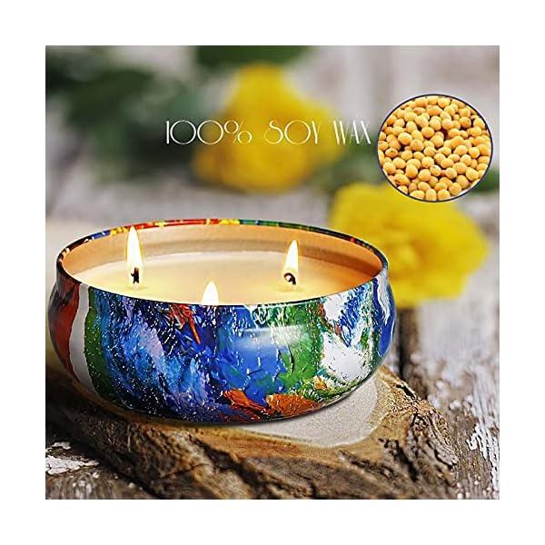 51RUCbLabVS SaiXuan Citronella Kerze Duftkerzen in Dose,425g Kerze 100% Sojawachs Outdoor Indoor,Citronella Kerzen für Garten