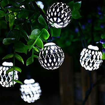 Globe battery operated string lights with timer recesky 30 led battery operated string lights with timer recesky 40 led 225ft globe lantern decor lighting for outdoor indoor garden yard home house party wreath mozeypictures Image collections