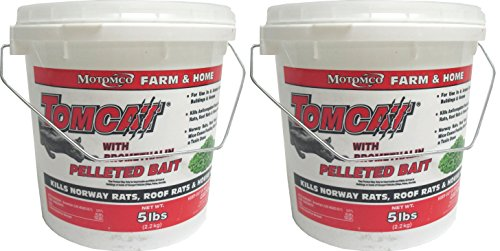 (2 Pack) MOTOMCO Tomcat Mouse and Rat Bromethalin Pellets, 5-Pound Per Pack by Motomco