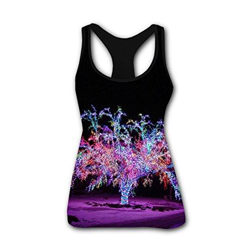 Bling Christmas Lights Women Custom Tank Render vest Camisole Yoga Tops XXL Christmas Lights Render
